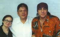 Steve Popovich, Steven VanZandt and Holly Cara Price
